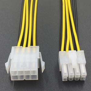 Image 2 - 8 pin ATX 12 V CPU EPS P4 Güç Uzatma Kablosu 8pin 18 cm Uzatın kablo tel 18AWG Güç Kaynağı bitcoin Madenci Madencilik Makinesi