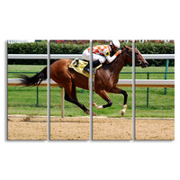 5 Pieces High Definition No Frame Print Horse Racing Canvas Oil Painting Poster And Wall Art