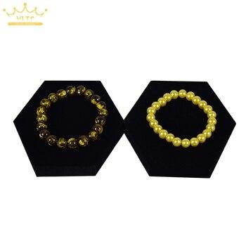 20pcs/lot Black Velvet  Jewelry Display Tray Bracelet&Bangle Holder Cases 10x10x2cm