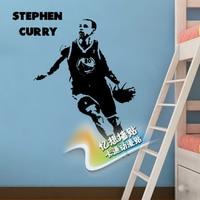 bc51684f18e1 Free Shipping Diy Vinyl Basketball Wall StickersThe Golden State Warriors  Star Stephen Curry Wallpaper Children Room