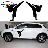 HotMeiNi 2 X Traditional Japanese Karate Kung Fu Classic Basic Moves Before Kick Car Sticker RV Door Window Vinyl Decal 9 Color