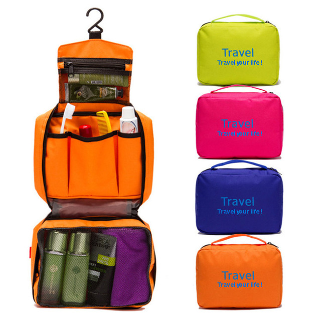 59017c72b882 US $13.18 |Travel portable multifunctional waterproof paragraph of male  women's wash package cosmetic bag hanging toiletry bag organizer-in  Cosmetic ...