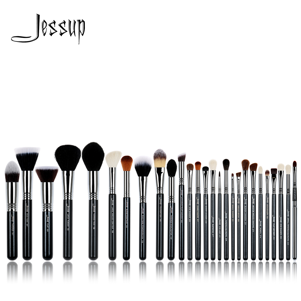 Jessup borstels 27 Stks Pro Makeup Brush Set Foundation Eye Face Shadow Lipsticks Powder Blending Beauty Brushes Kit T133
