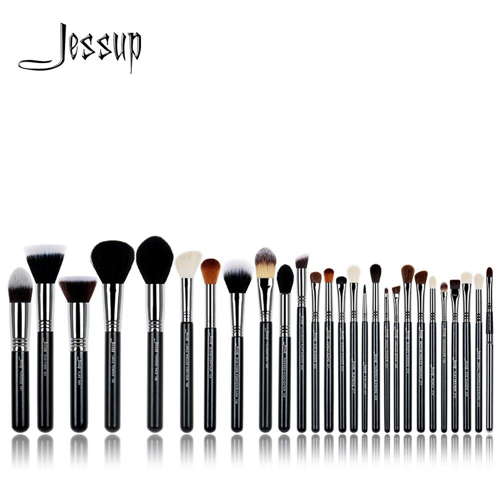Jessup pinsel 27 Pcs Pro Make Up Pinsel Set Foundation Auge Gesicht Schatten Lippenstifte Pulver Blending Schönheit Bürsten Kit T133-in Lidschatten-Applikator aus Haar & Kosmetik bei  Gruppe 1