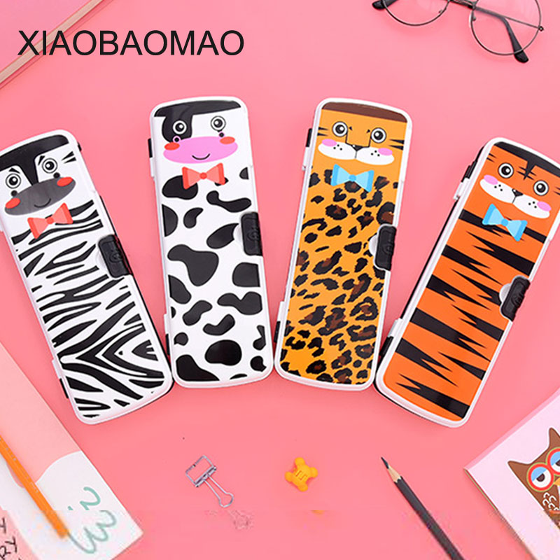 Cute Animal pencil case school Pencil Box Double-layer high-capacity pencil box for boys Student multifunctional Pen Bag School 220909 school gifts boxes pupil men multifunctional creative disney child pencil box primary school student