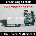 16 gb desbloqueado 100% original oficial de trabajo placa madre para samsung glaxy s3 i9305 4g soporte de red placa base con chips