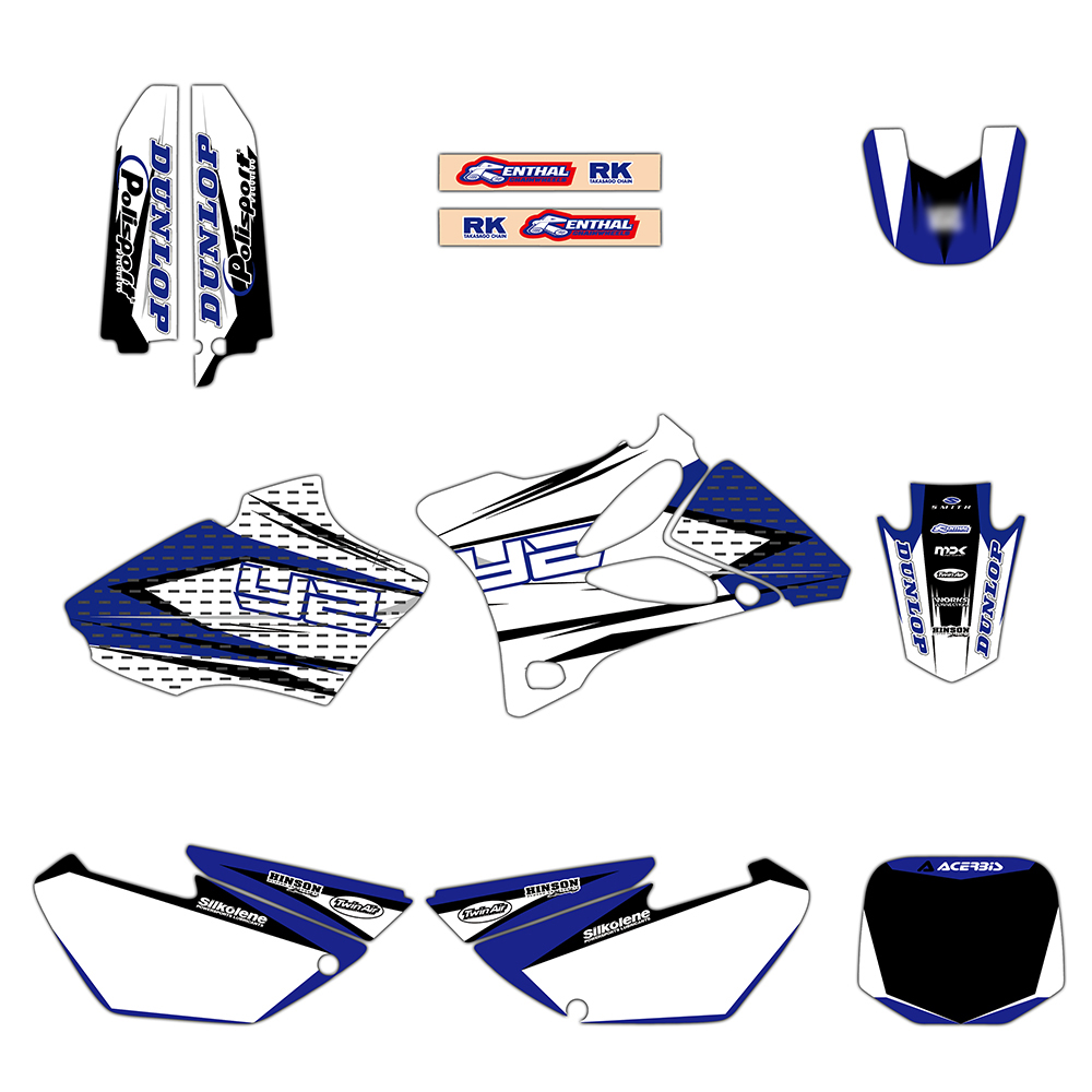 Motocross TEAM Graphics Decals Stickers Deco For Yamaha YZ85 YZ 85 2002-2014 Motocross