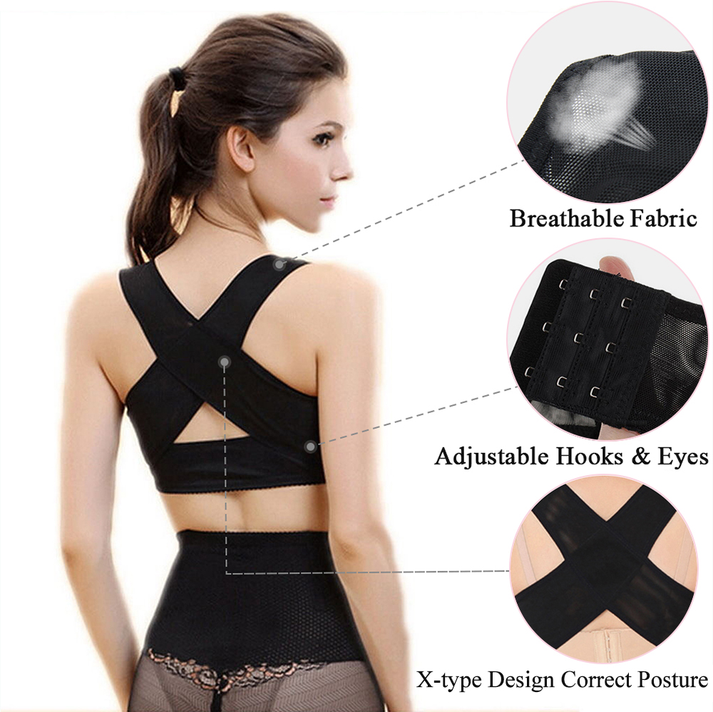 1PC Women Chest Posture Corrector Support Belt Body Shaper Corset Shoulder Brace for Health Care Drop Shipping S/M/L/XL/XXL 2