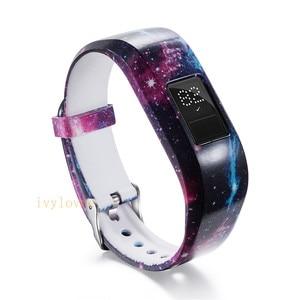 Image 5 - 24 цвета мягкий наручный браслет ремешок держатель для Garmin VivoFit Jr/для Garmin VivoFit JR 2 JR2 Junior трекер активности одежда