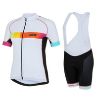 SGCIKER womens pink white rainbow cycling jersey pro team fit breathable bike blothing mtb Ropa Ciclismo maillot