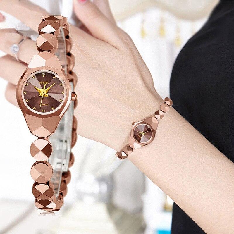 Bracelet Watch Gold Waterproof-Style Women's Luxury Brand Reloj Mujer Quartz Tungsten-Steel