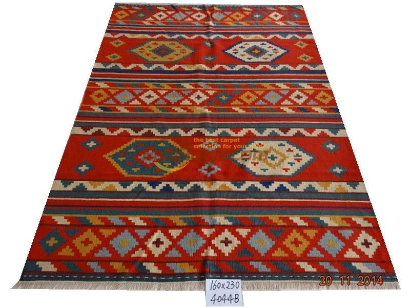 Ручная работа; вязаное; шерстяное Ковры Kilim гостиная ковер Bedroon прикроватные одеяло коридор 4044b 5.25X7.55 gc6kliyg5 красный