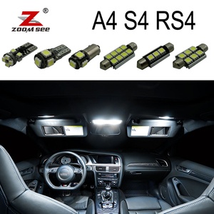 Perfect White Canbus Error Free LED bulb interior dome map overhead light Kit for Audi A4 S4 RS4 B5 B6 B7 B8 (1996-2015)(China)