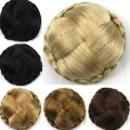 7 Colors Women Chignon Braid Buns Hairpieces Synthetic Hair Brown/ Blond/Black Hair Bun