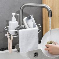 Edelstahl Wasserhahn Hängen Rack Bad Küche Schwamm Halter Organizer Wasserhahn Clip Regal Rack Regale & Gestelle    -