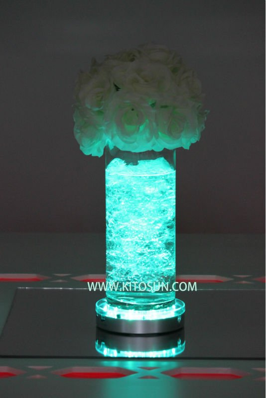 15pcs Remote Controller MultiColors Under Vase Base Light Coaster LED Light For Wedding Table Centerpieces Decoration