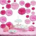 "40 unids 4 "" 6 "" 8 "" 10 '' ( 10 cm, 15 cm, 20 cm, 25 cm ) papel Tissue pom poms flores color de la mezcla bolas banquete de boda decoración del hogar"