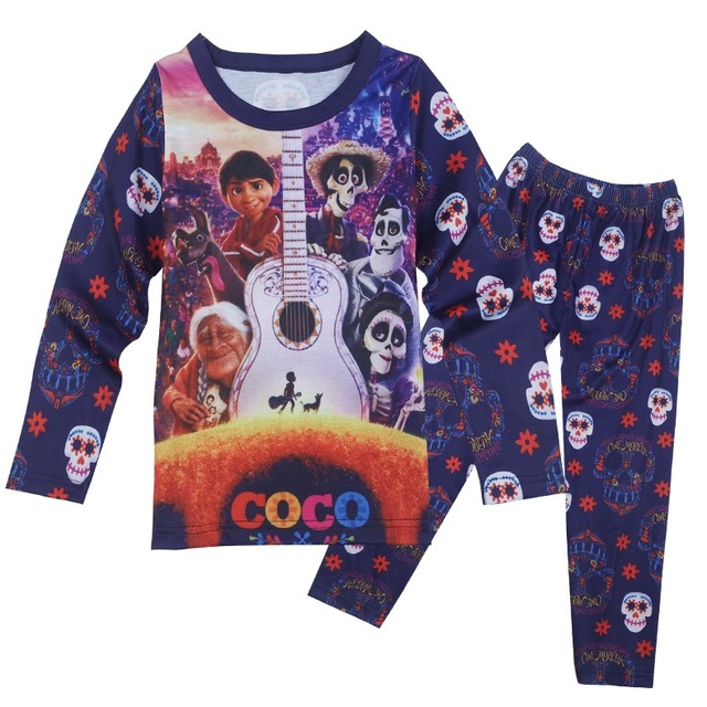 ae0ba090f3784 US $104.0 |EMS DHL Free shipping 2017 New Boys Girls Children Suit Autumn  Dream Travel Pajamas Cartoon Kids Two Piece Purple Color-in Clothing Sets  ...