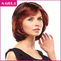 Free Shipping 1PC Short Auburn Wig Wigs For African American Black Women Sexy Natural U Part Wig Heat Resistant Synthetic Wigs