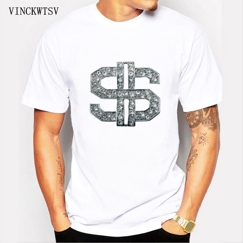 Men Tshirt Short Sleeves Bill Dollar Money Clothing Tops Tees Funny Gift Tshirts