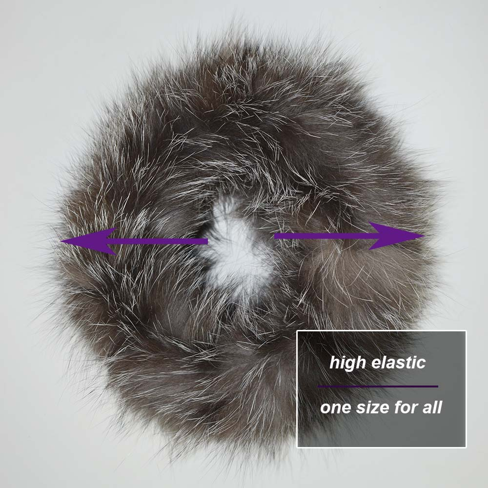 fox fur headband details 3