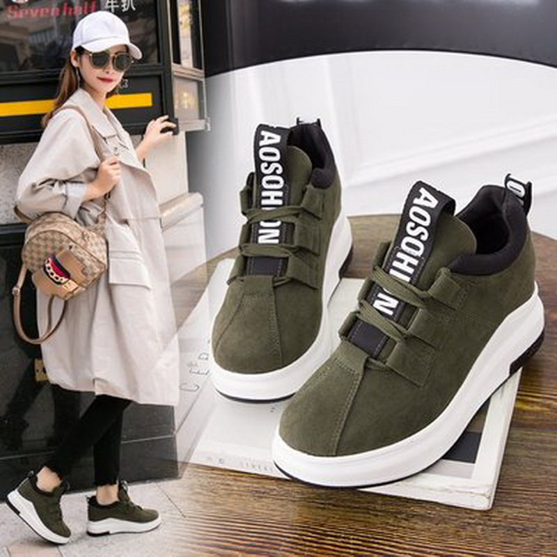 Women Casual 2018 Ladies Shoes Platform Shoes Sneakers Women Autumn Shoes For Women Flats Lace Up Breathable Sport Shoes