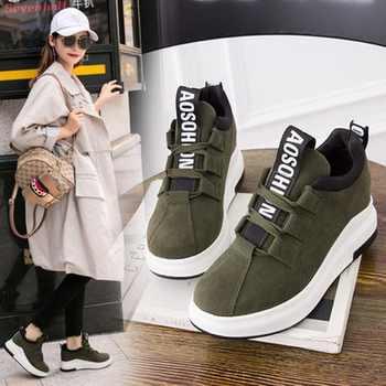Women Casual 2018 ladies shoes platform shoes sneakers women autumn shoes for women flats lace up breathable sport Shoes - DISCOUNT ITEM  26 OFF Shoes
