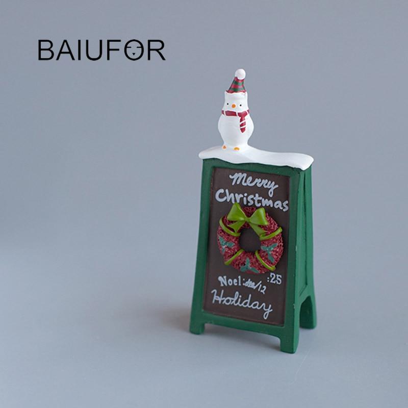 Gnome In Garden: BAIUFOR Miniatures & Figurines Mini Snowmen Christmas