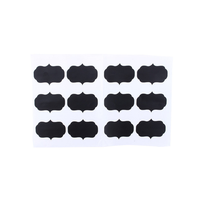 w 24pcs2sets black chalkboard blackboard chalk board stickers craft kitchen jar labels new