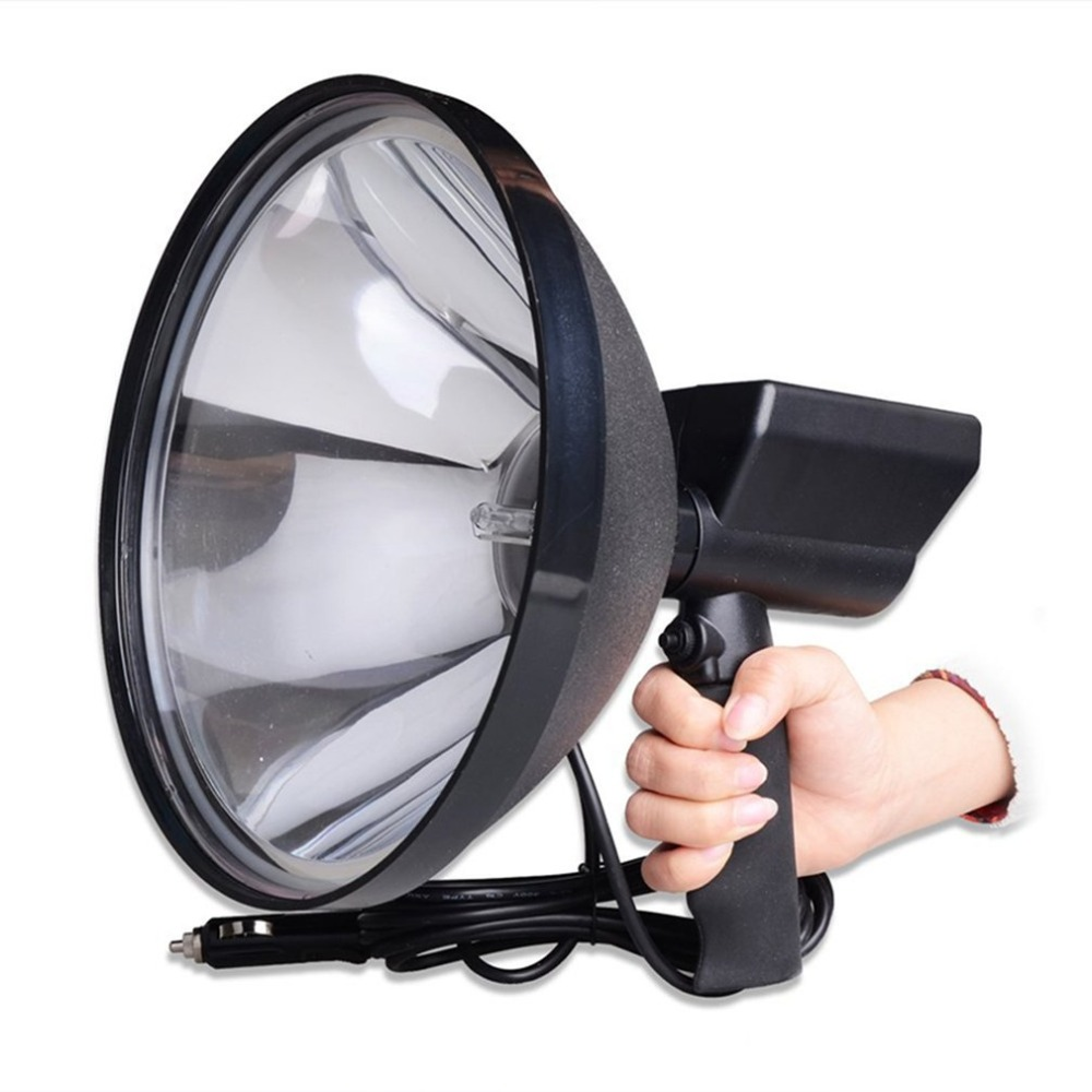 Portable Handheld HID Xenon Lamp 9 inch 1000W 245mm Outdoor Camping Hunting Fishing Spot Light Spotlight Brightness 10 75w 240mm hid xenon handheld portable driving search spotlight hunting fishing hiking camping emergency light 5500lm 9 32v