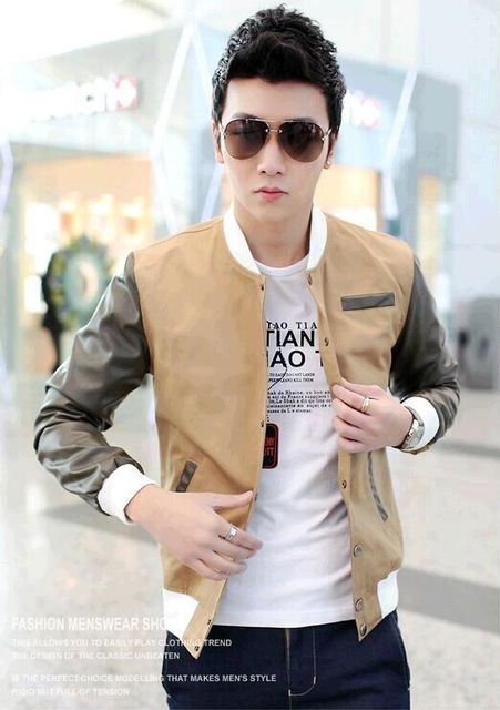 d112d59c8db1 Fashion Trend Cheap Teenagers Boy Men Bape Bomber Nk Jackets 2015 New Color  matching Pattern Veste Homme Mens Sport Suit Jacket
