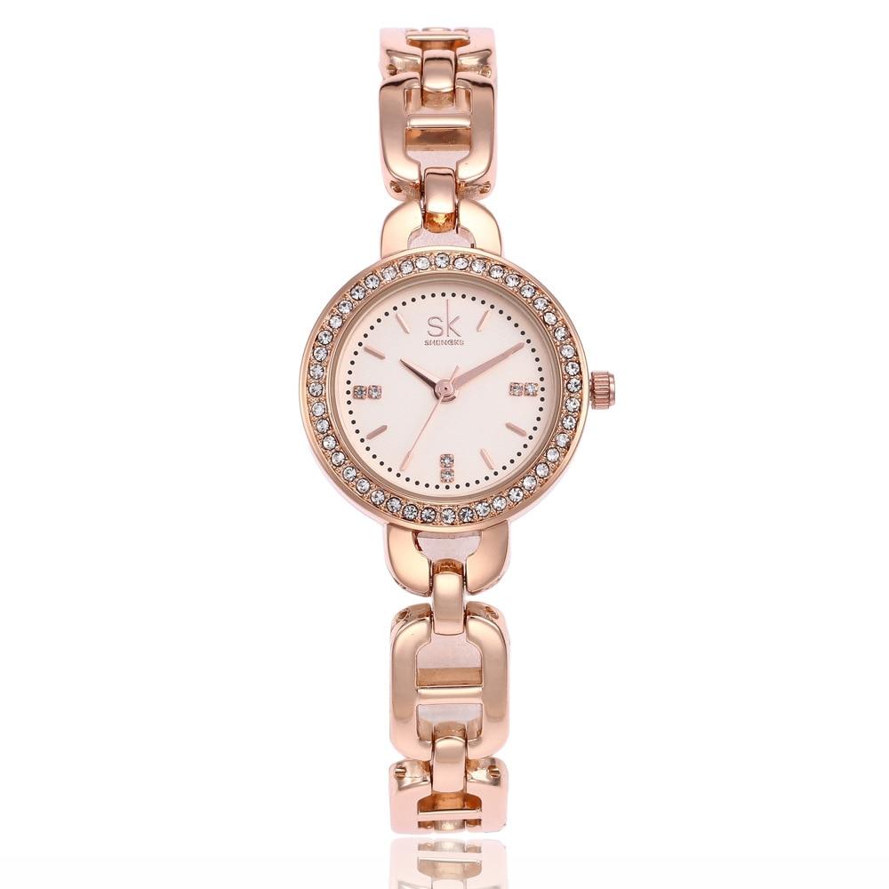 2 шт.-движение покрытие вакуум дамы сплава смотреть комплект горный хрусталь браслет кварцевые часы