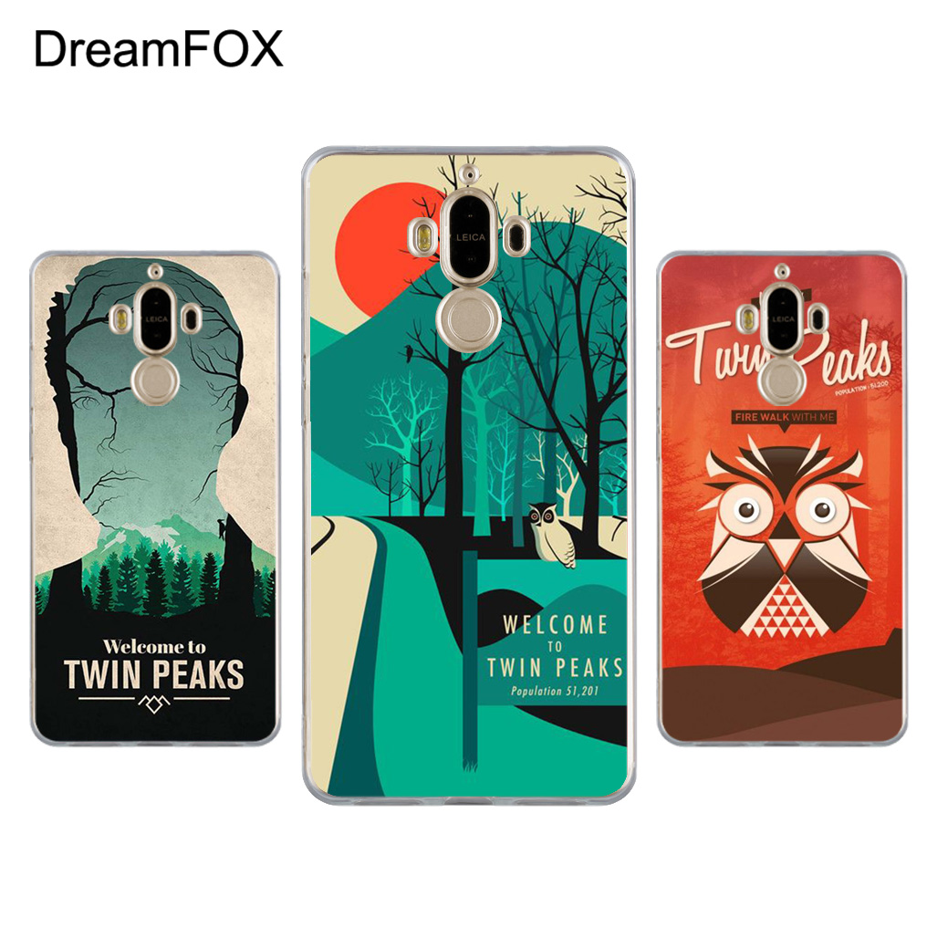 DREAMFOX L406 Welcome To Twin Peaks Soft TPU Silicone Case Cover For Huawei Mate G 7 8 9 10 Nova 2 Lite Pro Plus
