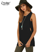 Eliacher Women Tops Fashion Summer Long Tank Tops Brand Plus Size Casual Women Clothing Chic Active
