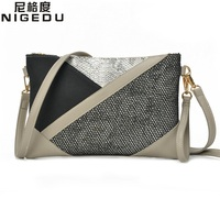 Panelled Patchwork Women Clutch Purse Hollow Luxury Envelope Evening Bags High Quality PU Leather Women S