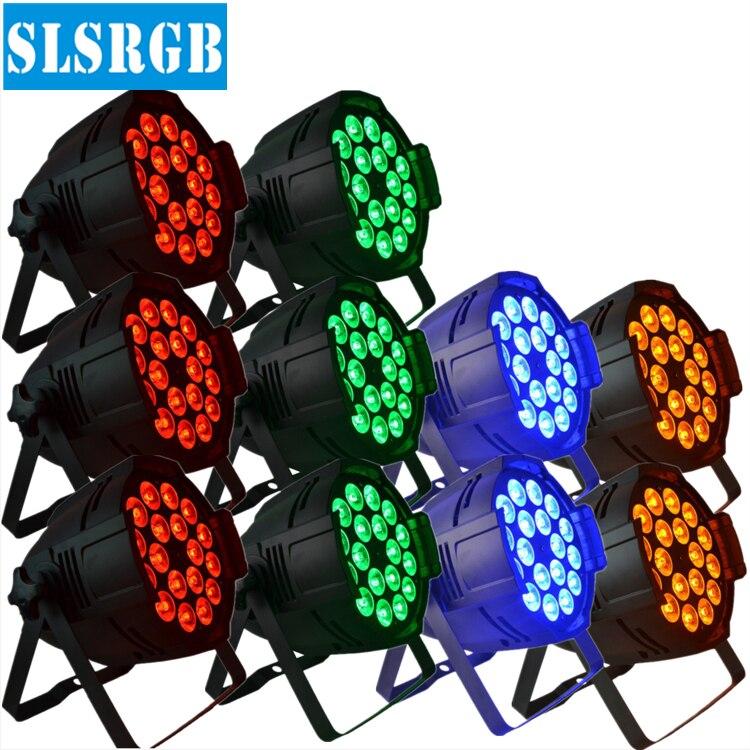 10pcs/lot DJ PAR 64 18x12w LED LIGHT RGBA 4in1 DMX512 STAGE PARTY SHOW HIGH POWER LED Par Can Light dmx 8CH for stage club chauvet dj slim par 64 rgba
