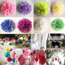 "6""(15CM) DIY Tissue Paper Flower Lanterns Honeycomb Ball Pompom For Home Garden Wedding Birthday&Wedding Decoration Baby Shower"