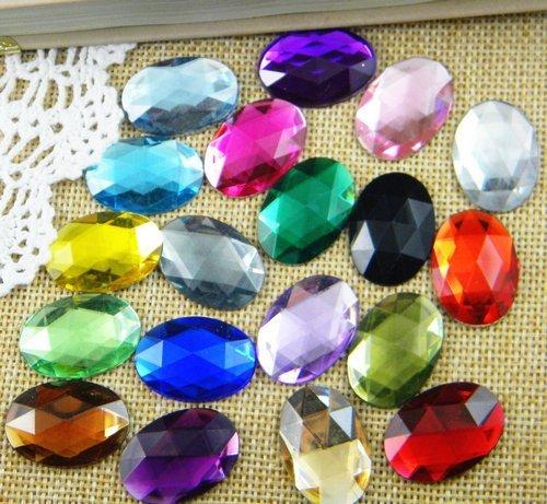 2,000 pçs/saco 8*10mm Apartamento de Volta Forma Oval Strass Acrílico, Plástico Acrílico Da Arte Do Prego 3D/Vestuário/jóias de Strass