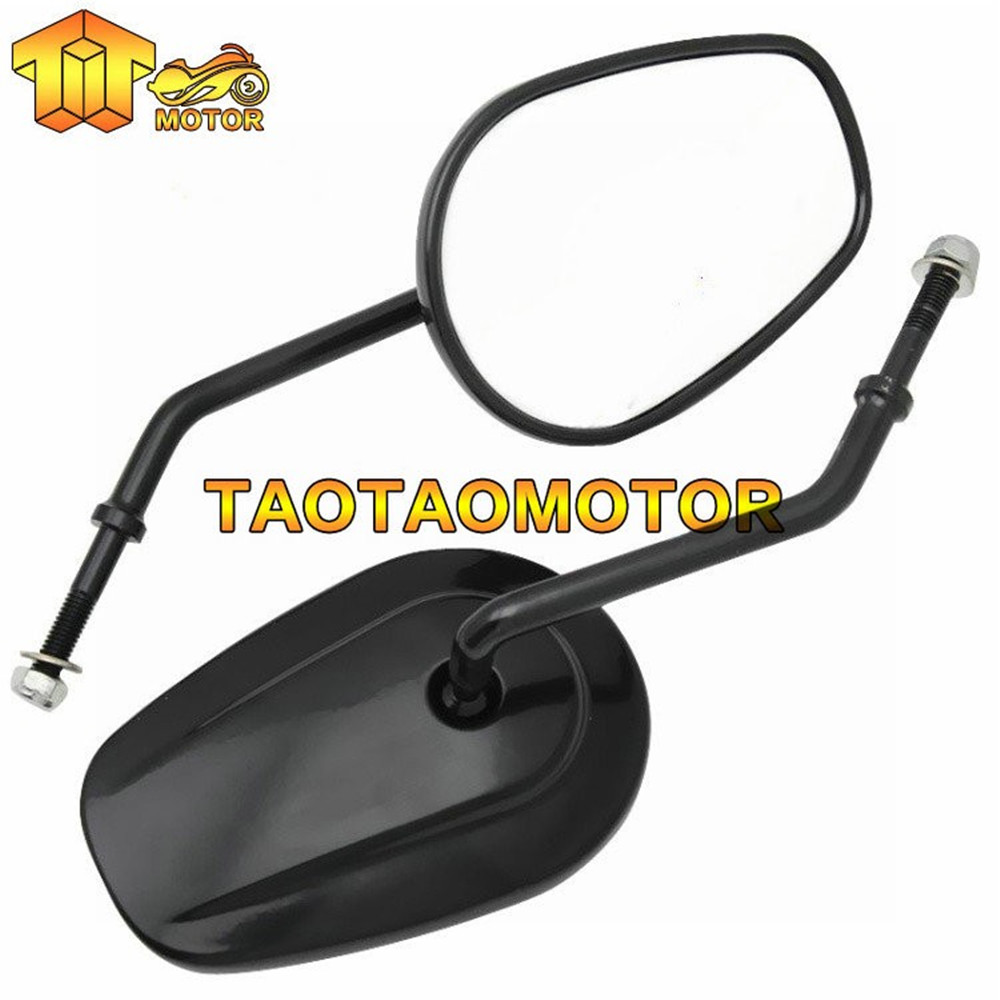 Free shipping Motorcycle black rearview mirrors For Harley Dyna Softail IRON XL883 1200 48 72 Fat