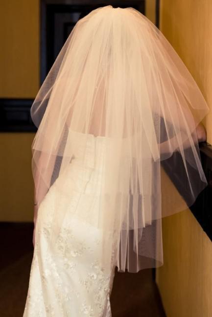 Новый ivory white свадебная фата свадебное платье аксессуары + расческа
