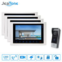 JeaTone 10 Recording Intercom System Video Door Phone LCD Monitor 1200 TVL Night Vision Camera Video