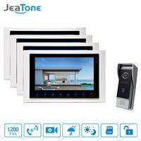 JeaTone 10 Recording Intercom System Video Door Phone LCD Monitor 1200 TVL Night Vision Camera Video