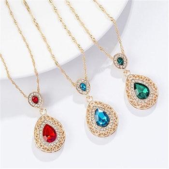 Luxury  Gold rhinestone crystal Jewelry Set 4
