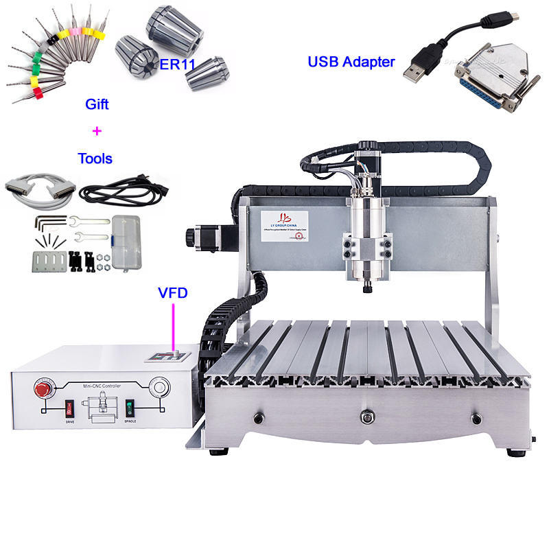 USB port CNC 6040 desktop CNC carving machine 6040 metal milling engraver to EU free tax