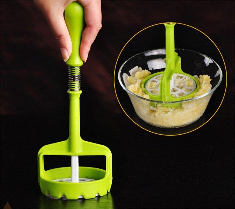 Potato Press Stainless Steel Carrot Masher Cooking Tool Manual Kitchen Gadget Manual fruit juicer Garlic yam mud pressure