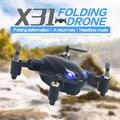 SYX31 Mini Plegable de Control Remoto de $ NUMBER CANALES Quadcopter Drone RTF Helicóptero Negro