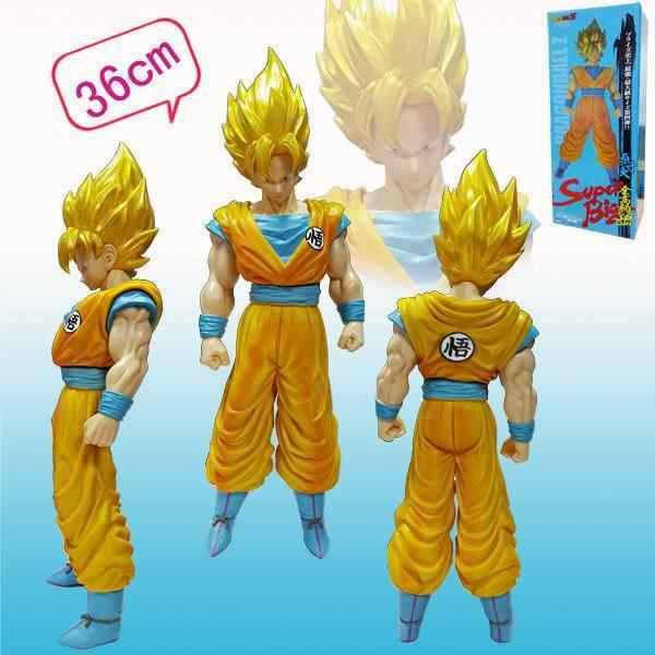 45 см аниме фигурки супер большой Saiya Сон Гоку фигурка изображение золото/черный/красный волосы Гоку Figura модель игрушки Кукла Коллекция