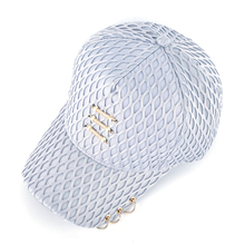 Netted Snapback Cap with Bars and Rings