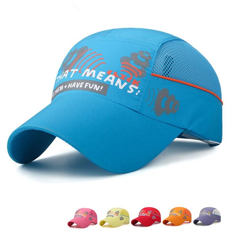 Prix pour 2017 New Summer Enfants 50-54 cm Réglable Mesh Cap Frais de Base-Ball Casquettes pour Enfants Garçons Filles Os Gorras respirant Chapeau