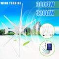 3200/3000 W Wind voor Turbine Generator 12/24 V 3/6 Wind Bladen OptionWind Controller Gift Fit voor thuis + Montage accessoires tas